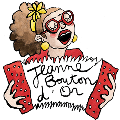 Artiflette spectacle jeanne bouton d'or