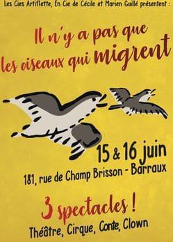 Journées Spectacles «Il n'y a pas que les oiseaux qui migrent»